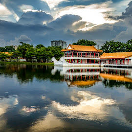 Singapore Chinese Garden Sunset by Charles Ong - City,  Street & Park  City Parks
