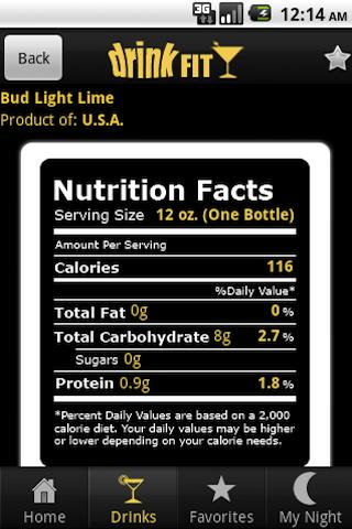 DrinkFit Calorie Tracker