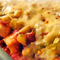 Pineapple Salsa Chicken Enchiladas