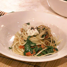 Donna's Spaghetti with Lime and Arugula