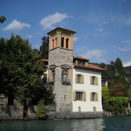 by Emilie Walson - Buildings & Architecture Homes ( houses, switzer, lake tour, blue water, lucerne )