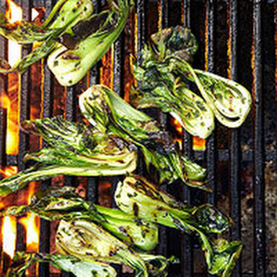 Grilled Bok Choy with Garlic-Sage Oil