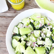 Cucumber Honeydew Salad with Feta