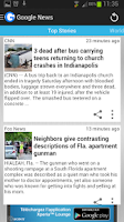 Screenshot of gNews (Google News reader)