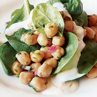 Chickpea and Spinach Salad with Cumin