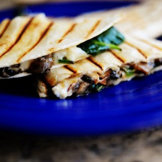 Spinach and Mushroom Quesadillas