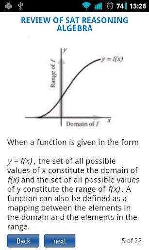 SAT Algebra Functions