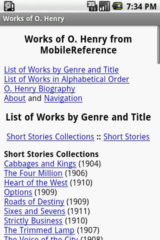 Works of O. Henry