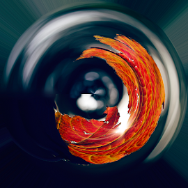 Tiny planet with the tiny speck of sun by Anupam Hatui - Abstract Patterns ( abstract, abstract art )