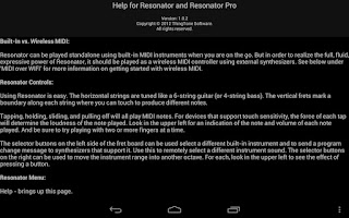 Screenshot of Resonator Pro - MIDI Guitar