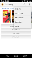 Screenshot of Johnson County Library Mobile