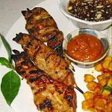 Ga Lui (skewered five spice chicken)