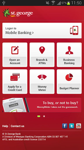 st-george-banking-app for android screenshot