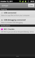 Screenshot of NFC Checkin