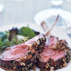 Roast Lamb with Marionberry-Pecan Crust