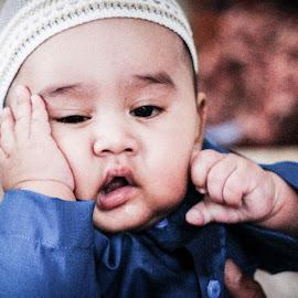 Little Imam by Zaki Marican - Babies & Children Toddlers ( muslim, potrait, headshot, moment, candid, baby, cute, baby boy,  )