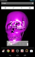 Screenshot of Skull 3D Gyro Live Wallpaper