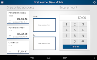 Screenshot of First Internet Bank Mobile