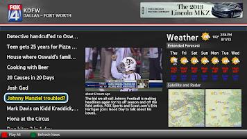 Screenshot of MY FOX DFW News Google TV