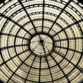 Glass Dome by Stefano Landenna - Buildings & Architecture Architectural Detail ( milan, galleria, dome, circle, italy )