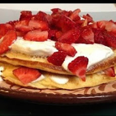 Strawberry Protein Pancakes