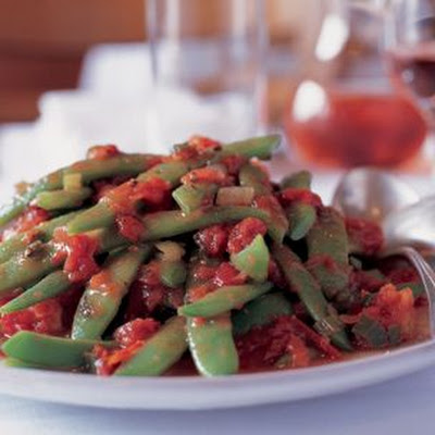 Romano Beans with Tomatoes (Fagioli a Corallo in Umido)