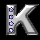 Bling-bling K-monogram icon