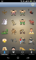 Screenshot of RUDETOONS ADULT EMOTICONS