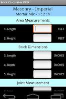 Screenshot of Brickwork Calculator PRO