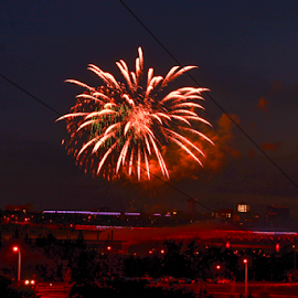 Firework by Joseph Law - News & Events World Events ( in city of edmonton, city view, lighting, happy day, firework, beautiful night, celebration )