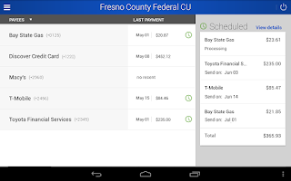 Screenshot of FCFCU Mobile