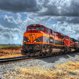 KCS Westville by Steve Tharp - Transportation Trains