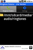 Screenshot of Ringtone Rotator Lite