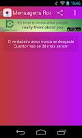 Screenshot of Mensagens Românticas