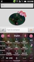 Screenshot of GO Keyboard Carnation theme