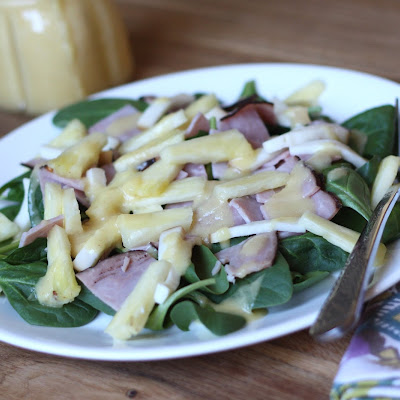 Hawaiian Salad with Pineapple Balsamic Salad Dressing