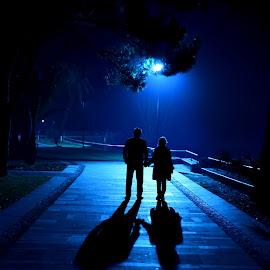 Aşk-Love by Mahmut Sami - People Family ( #aşk, #blue, #black&white, #mavi, #love )