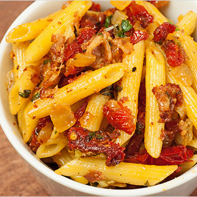 Penne with Pancetta and Sun Dried Tomatoes