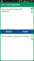 Screenshot of Spanish - English Translator