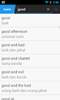 Screenshot of Indonesian English Translator
