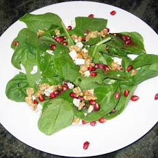 Wild Green Salad With Pomegranate Vinaigrette