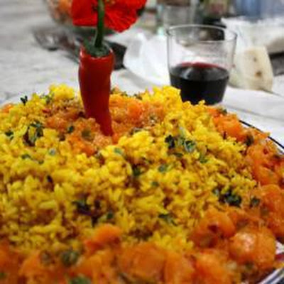 Cumin Rice served with Pumpkin