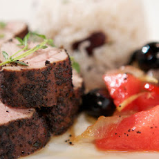 Pork With Watermelon Chutney