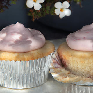Strawberry-Filled Cardamom Cupcakes