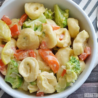 Creamy Tortellini with Vegetables
