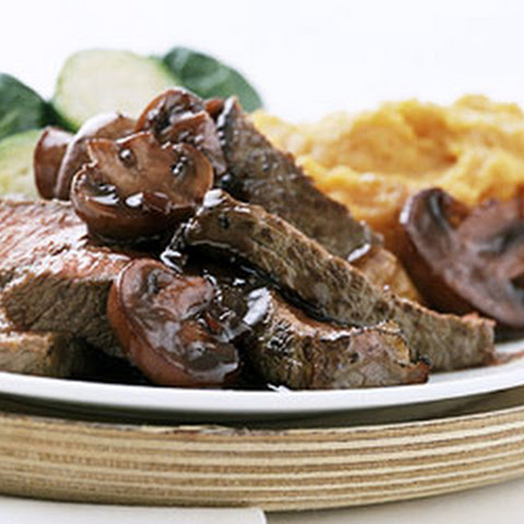 Wine-Balsamic Glazed Steak