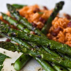 Grilled Asparagus with Sweet Mint Dressing Recipe