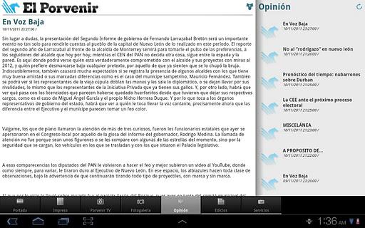 【免費新聞App】Periodico El Porvenir HD-APP點子