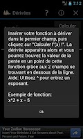 Screenshot of Dérivées