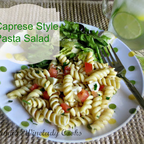 Caprese Style Pasta Salad - Hold The Mayo